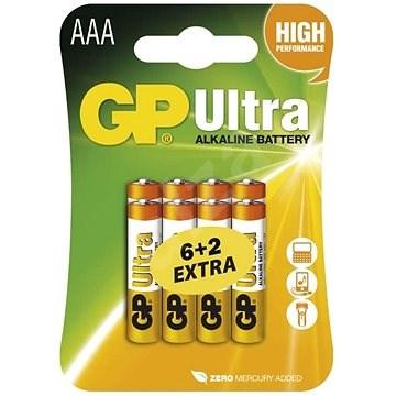 GP Ultra Alkaline LR03 (AAA) 6+2ks v blistru - Jednorázová baterie