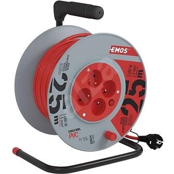 Emos Prodlužovací kabel na bubnu- 4 zásuvky 25m - Prodlužovací kabel