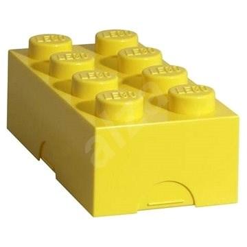LEGO Box na svačinu 100 x 200 x 75 mm - žlutý - Svačinový box