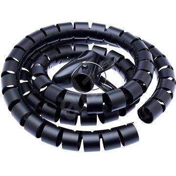 CONNECT IT CableFit WINDER černá 1.5m - Organizér kabelů