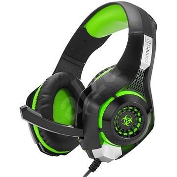 CONNECT IT CHP-4510-GR Gaming Headset BIOHAZARD zelená - Herní sluchátka