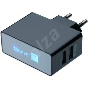 CONNECT IT CI-153 Dual Charger 230V černá - Nabíječka do sítě