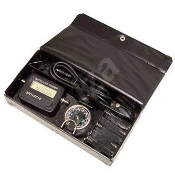 Satfinder set- ukazatel síly satelitního signálu, zvuková signalizace, konektor F  - Měřič intenzity signálu
