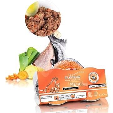 Platinum natural menu mini turkey salmon 4 x 100 g - Paštika pro psy