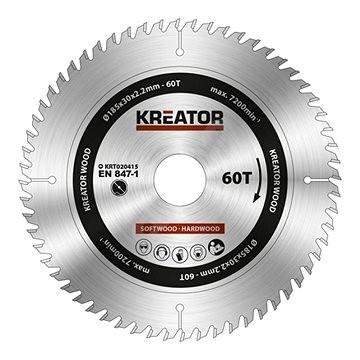 Kreator KRT020415, 185mm, 60T - Pilový kotouč na dřevo