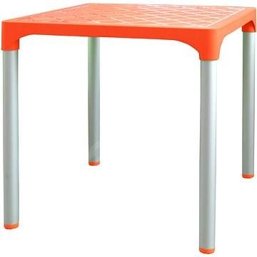 MEGAPLAST VIVA 72x72x72cm, ALUMINIUM Legs, Orange - Garden Table