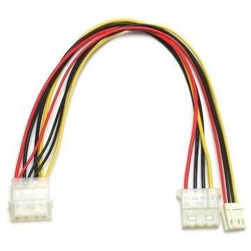 """ROLINE napájecí FDD 5.25"""" - 5.25"""" a 3.5"""", 0.25m - Napájecí kabel"""
