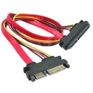 OEM Prodlužovací SATA datový a napájecí, 0.5m - Datový kabel