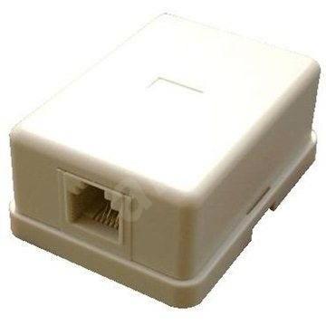 Datacom CAT3, 1x RJ11, na omítku - Zásuvka