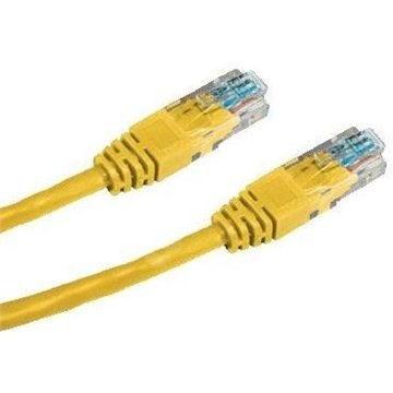 Datacom CAT6, UTP, 0.5m, žlutý - Síťový kabel