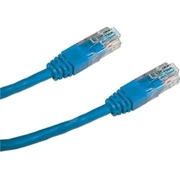 Datacom CAT5E UTP modrý 1m - Síťový kabel