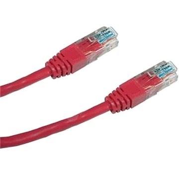 Datacom CAT5E UTP červený 1m - Síťový kabel