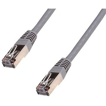 Datacom CAT5E FTP šedý 0.5m - Síťový kabel