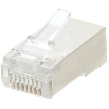 Datacom 10-pack, RJ45, CAT5E, STP, 8p8c, stíněný, neskládaný, na licnu (lanko) - Konektor