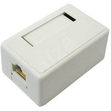 Datacom CAT5E UTP 1x RJ45 na omítku - Zásuvka