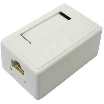 Datacom CAT5E, STP, 1x RJ45, na omítku - Zásuvka