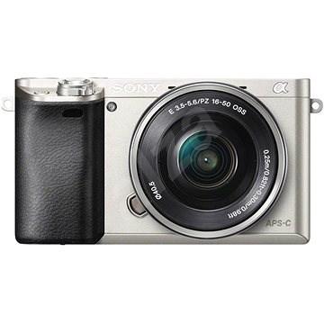 Sony Alpha A6000 stříbrný + objektiv 16-50mm - Digitální fotoaparát