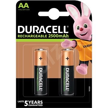 Duracell Rechargeable AA 2500mAh - 2 ks - Nabíjecí baterie