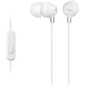 Sony MDR-EX15AP bílá - Sluchátka