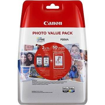 Canon PG-545XL + CL-546XL + fotopapír GP-501 Multipack - Cartridge