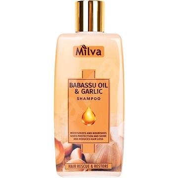 MILVA Česnek a Babass olej 200 ml - Přírodní šampon