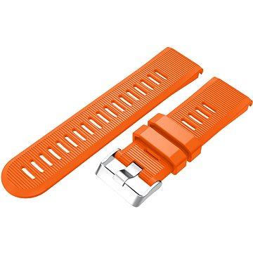 Eternico Garmin QuickFit 26 Silicone Band Silicone Silver Buckle oranžový pro Garmin QuickFit 26 (AET-GRQRSLC75O-26)