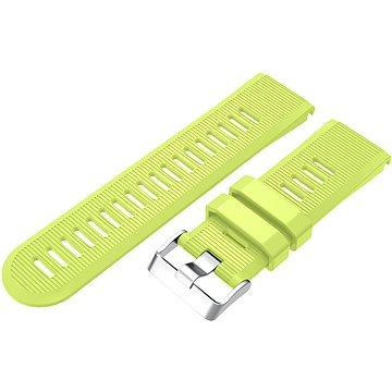 Eternico Garmin QuickFit 26 Silicone Band Silicone Silver Buckle limetkový pro Garmin QuickFit 26 (AET-GRQRSLC75Q-26)