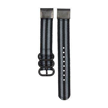 Eternico HQ Nylon černo šedý pro Garmin 20 (AET-GRQRQNL25Y-20)