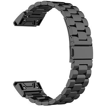Eternico Stainless Steel Band černý pro Garmin 20 (AET-GRQRSSL50B-20)