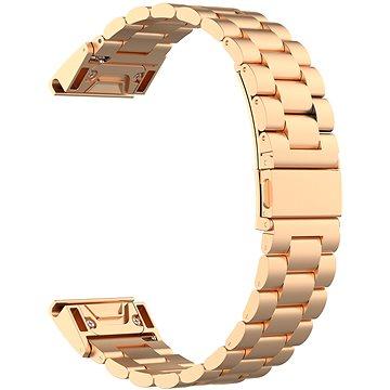 Eternico Stainless Steel Band růžovo zlatý pro Garmin 20 (AET-GRQRSSL50RG-20)