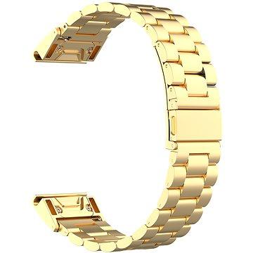 Eternico Stainless Steel Band zlatý pro Garmin 20 (AET-GRQRSSL50G-20)