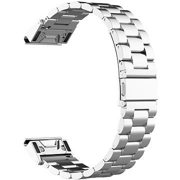Eternico Stainless Steel Band Silver Steel Buckle stříbrný pro Garmin 22 (AET-GRSSL25S-22)