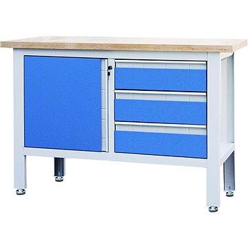 AHProfi pracovní stůl se třemi zásuvkami a skříňkou (TSK5413-L)