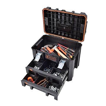 Tactix vodotěsný plastový kufr se zásuvkami (TC320362)
