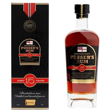 Pusser's British Navy Rum 15Y 0,7l 40% GB (88320053371)