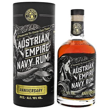 Austrian Empire Navy Rum Anniversary 0,7L 40% Tuba (742832137409)