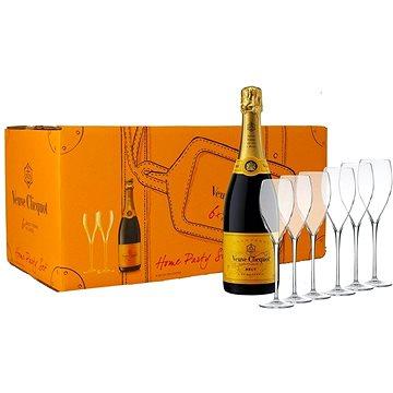 Veuve Clicquot Party Set Brut 6×0,75l 12% + 6x sklo GB (3049614190988)