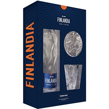 Vodka Finlandia 0,7l 40% + 2x sklo GB 2020 (5099873719909)