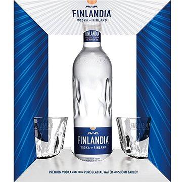 Finlandia Vodka 0,7l 40% + 2x sklo GB (8594058184666)