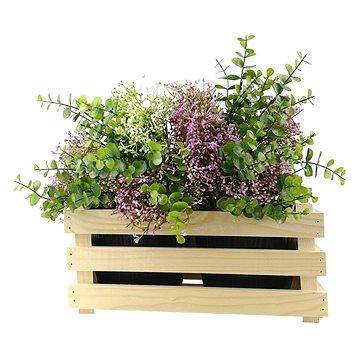 AMADEA Dřevěný obal na dva květináče, 32x17x15cm (40681-00)