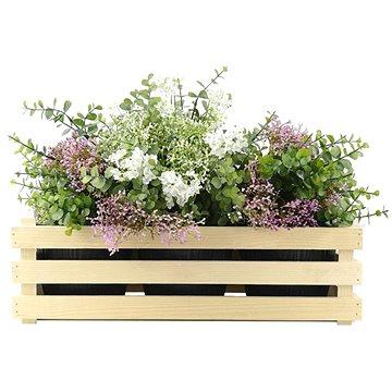 AMADEA Dřevěný obal na tři květináče, 47x17x15cm (40736-00)