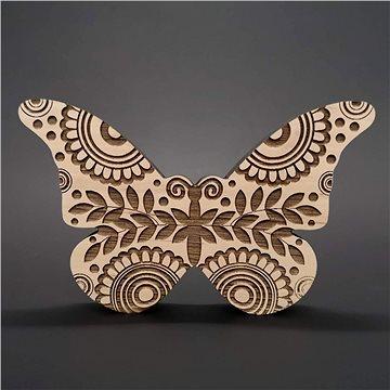 AMADEA Dřevěná dekorace motýl, masivní dřevo 15x9,5x1,8 cm (39344-00)