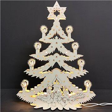 AMADEA Dřevěný svítící portál ve tvaru stromu, 47x36,5x10 cm (09991-00)