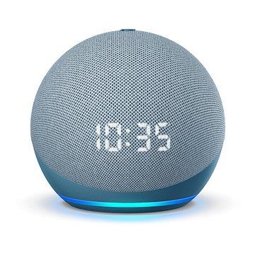Amazon Echo Dot 4.generace Twilight Blue s hodinami (B085M66LH1)