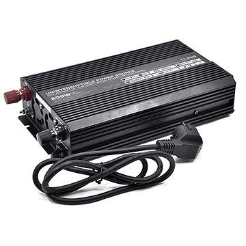 Carspa Měnič napětí UPS600-12 12V/230V 600W s nabíječkou 12V/10A a funkcí UPS (4420045)