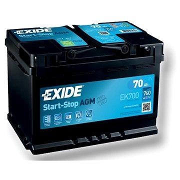 EXIDE START-STOP AGM 70Ah, 12V, EK700 (EK700)