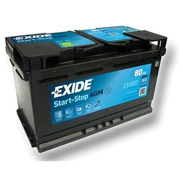 EXIDE START-STOP AGM 80Ah, 12V, EK800 (EK800)