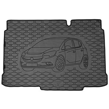 ACI OPEL Corsa 14- gumová vložka černá do kufru s ilustrací vozu (spodní dno zavazadlového prostoru) (3804X02C)