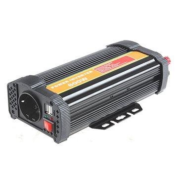 BYGD P600U - měnič napětí 12V na 230V 600W (P600U)