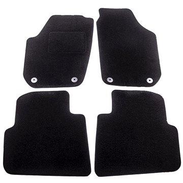 ACI textilní koberce pro ŠKODA ROOMSTER 06-10 černé (pro kulaté příchytky) sada 4 ks (7641X62)